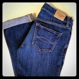 Abercrombie Cuffed Stretch Capri Jeans Sz. 2